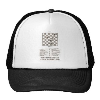 Why Wonderland Is Like A Chess Game (Preface) Mesh Hat