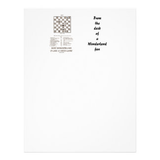 Why Wonderland Is Like A Chess Game (Preface) Letterhead