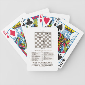 Why Wonderland Is Like A Chess Game (Preface) Bicycle Playing Cards