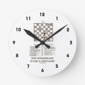 Why Wonderland Is Like A Chess Game (Preface) Round Clock