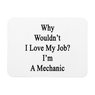 Why Wouldn t I Love My Job I m A Mechanic Vinyl Magnet