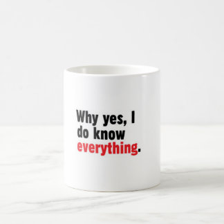 Why yes, I do know everything mug