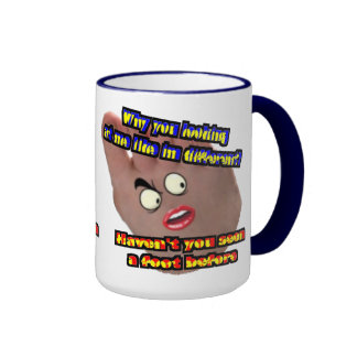 Why you looking at me like im different ringer coffee mug