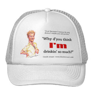 whydythink Hat, claude caricature