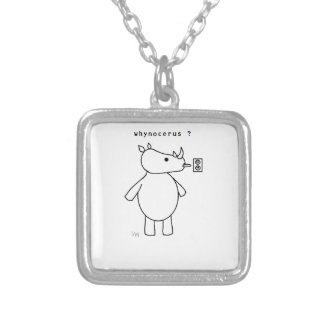 whynocerus/outlet square pendant necklace