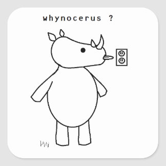 whynocerus/outlet square sticker