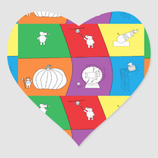 whynocerus the rhinoceros heart sticker