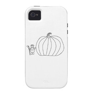 whynocerus the rhinoceros with giant pumpkin iPhone 4/4S cover