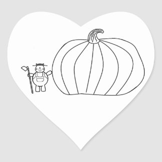 whynocerus the rhinoceros with giant pumpkin heart sticker