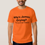 Why's James Crying?  - T-SHIRT