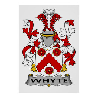 Whyte Family Crest Posters
