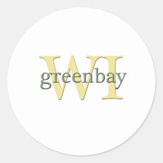 WI de Greenbay Etiquetas Redondas