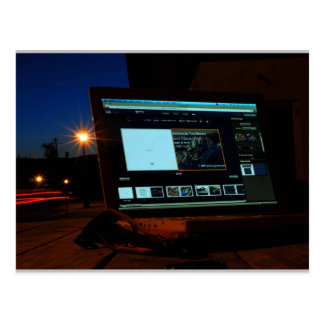 Wi-fi by Night Postcard