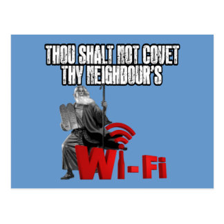 Wi-Fi hilarante Postal