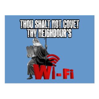 Wi-Fi hilarante Postales