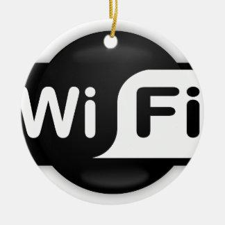 Wi-Fi Hot Spot Ceramic Ornament