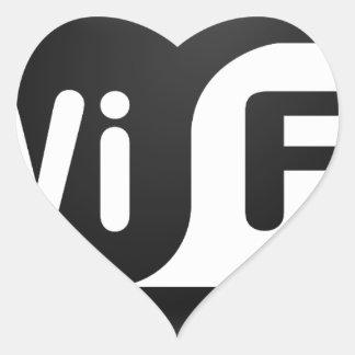 Wi-Fi Hot Spot Heart Sticker