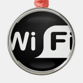 Wi-Fi Hot Spot Metal Ornament