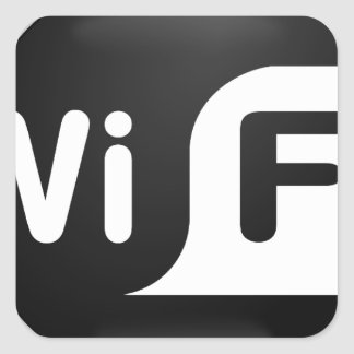 Wi-Fi Hot Spot Square Sticker