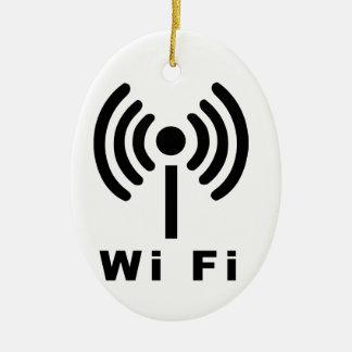Wi Fi Symbol Ceramic Ornament