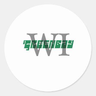 wi greenbay etiqueta redonda