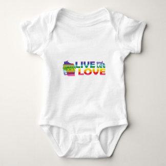 WI Live Let Love Baby Bodysuit