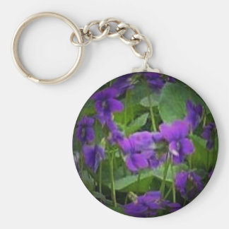 WI Wood Violet Spotlight Keychain