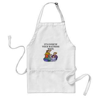 wiatress tipping joke apron