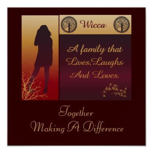 Wicca A Family Poster