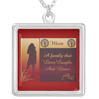 Wicca A Family Silver Plated Necklace
