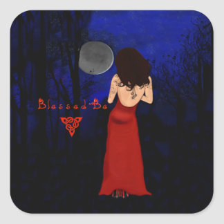 Wicca Blessed be Square Sticker