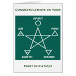 Wicca First Initiation Congratulations Card