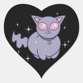 Wicca Kitten black sticker