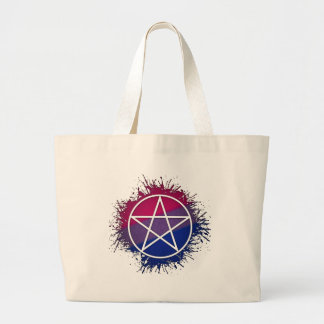 Wicca Pentacle - Bisexual Jumbo Tote Bag