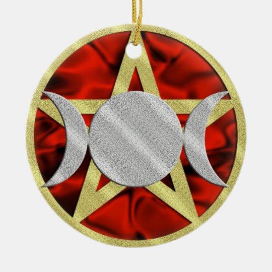 Wicca Pentagram Triple Goddess Ornament