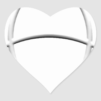 Wicca Protection Heart Sticker
