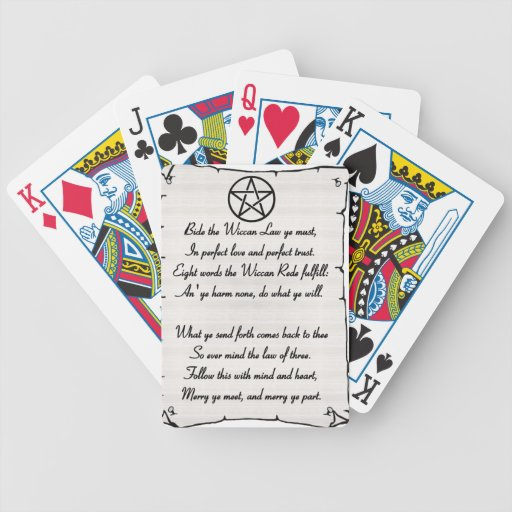 Wicca Reade Bicycle Playing Cards