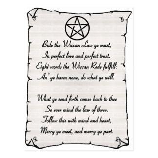 Wicca Reade Postales