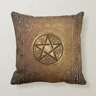 Wicca Rustica: Book of Shadows Throw Pillow