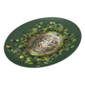 Wicca Rustica: Emerald Forest Melamine Plate