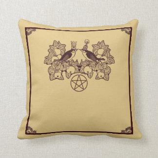 Wicca Rustica: Joyous Oestara Throw Pillow