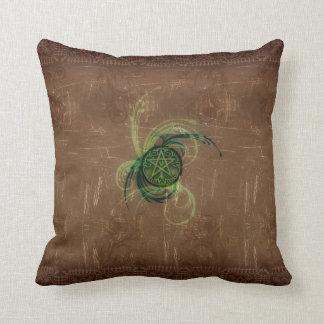 Wicca Rustica: Magick Pentacle Throw Pillow