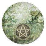 Wicca Rustica: Pentáculo del arbolado Plato De Cena
