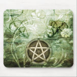 "Wicca Rustica: Woodland Pentacle Mouse Pad<br><div class=""desc"">This gorgeous design features a charming rustic Wiccan motif. 