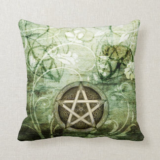Wicca Rustica: Woodland Pentacle Throw Pillow