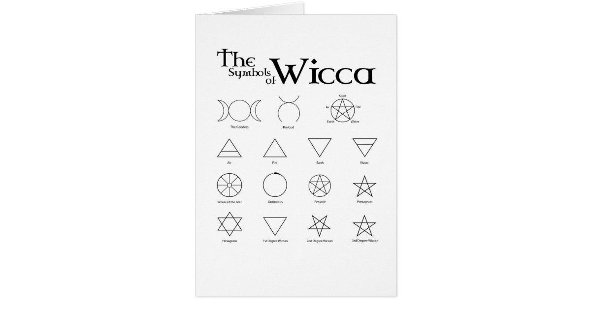 Wicca Symbols Card Zazzle
