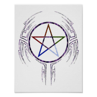 Wicca tribal posters