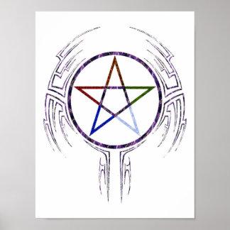 Wicca Tribal Print