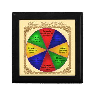 Wicca Wheel of the Year Tiled Box Trinket Box