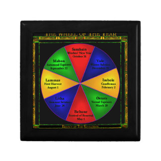 Wicca Wheel of the Year Tiled Box Gift Box